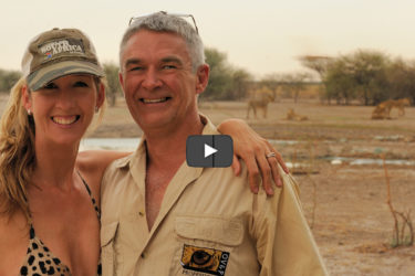 Naomi & Dave Estment in Central Kalahari