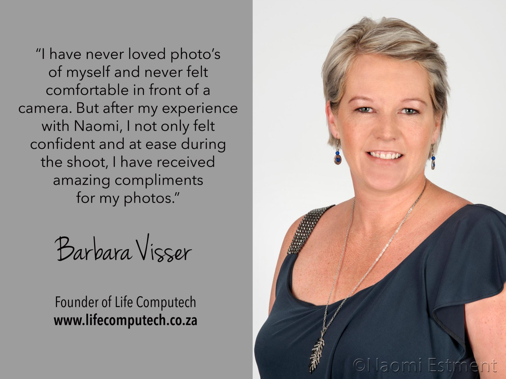 Barbara Visser Testimonial for Naomi Estment
