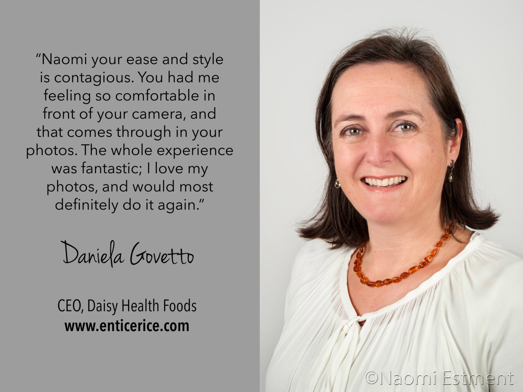 Daniela Govetto Testimonial for Naomi Estment