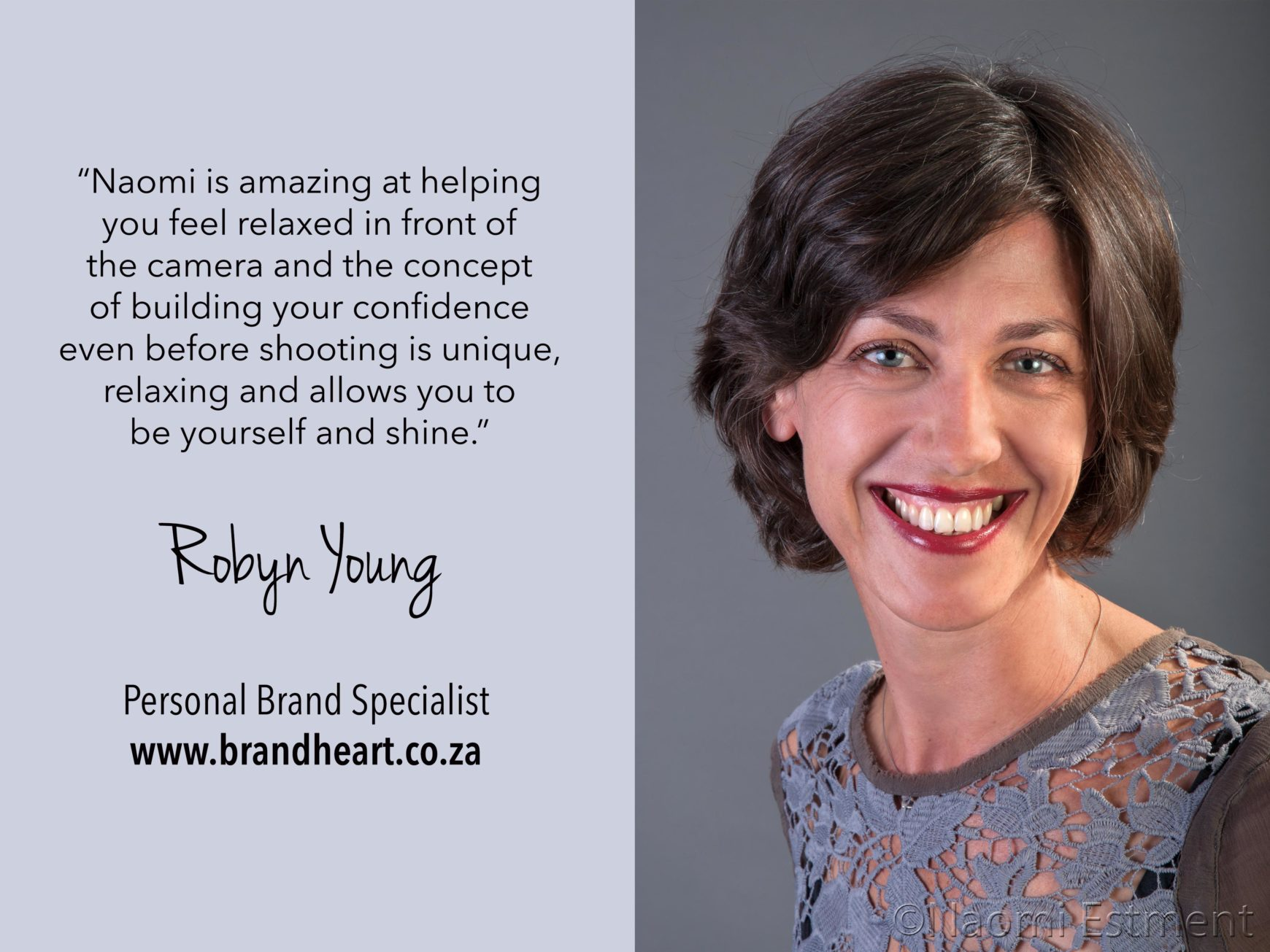 Robyn Young Testimonial for Naomi Estment